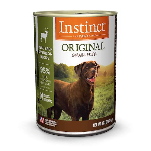 instinct dog food can