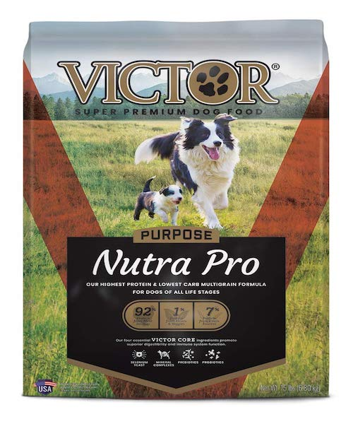victor dog food pack