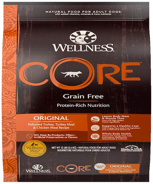 wellness core dog food bag