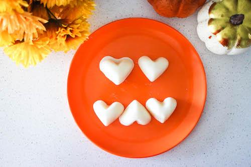 heart shaped Halloween dog treats