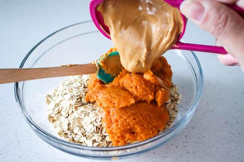 oats, pumpkin and peanut butter