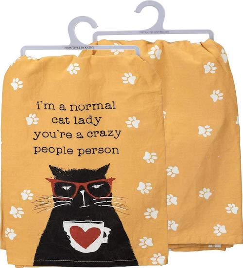 crazy cat lady towel
