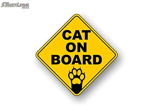 cat on board decal