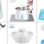 cat water fountains collage